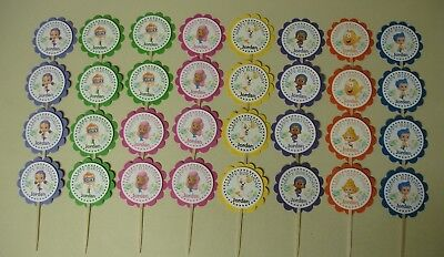 32 BUBBLE GUPPIES Personalized cupcake toppers birthday party favors - Bubble Guppies Cupcakes