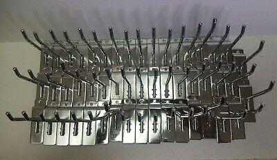 Chrome 4 Peg Hook For Slat-wall Heavier Duty Hooks - 50 Pack
