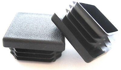 12 - 1 14 Square Tubing Plastic Plugs 1-14 Inch End Cap 11-19 Ga 1.25 X 114