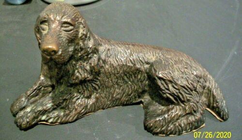 Cast Iron Paperweight Figurine Cocker Spaniel Dog, Felt Bottom