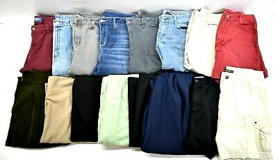 Wholesale Bulk Womens Size 12 Major Brands Pants, Skirt, Jeans, Shorts Lot of 16 - Wholesale Womens Shorts