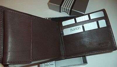 - Buxton Mountain Convertible Leather Billfold Wallet ,Brown