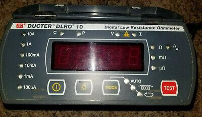 Ducter Dlro 10 Digital Low Resistance Ohmmeter