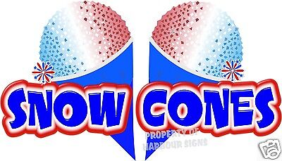 Snow Cones Sno Kones Concession Trailer Cart Decal 14
