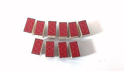 10 Pcs Led Display Digital 7 Segment 0.630 10 Pin 1-bit Red Lts-367hr K1 K2 J2