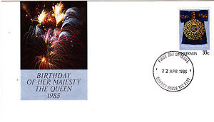 1985 Birthday of Her Majesty Queen Elizabeth II FDC - Surrey Hills Vic 3127 PMK