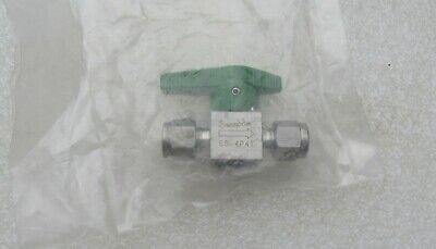 Swagelok 14 Stainless Steel Instrument Plug Valve Ss-4p4t New