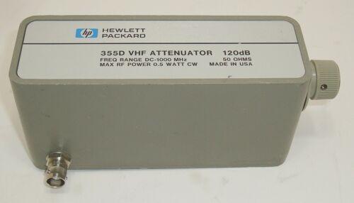 HP Agilent Keysight 355D VHF Attenuator 120dB - Free S&H