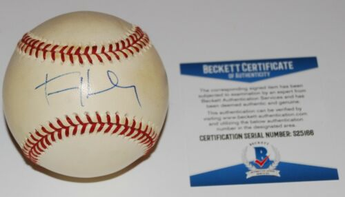 TOM HANKS signed OML baseball (A LEAGUE OF THEIR OWN) BECKETT Authenticated COA