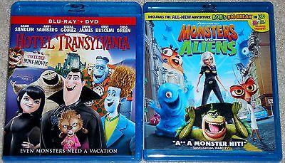Kid Halloween Blu-ray Lot - Monsters vs. Aliens (Used) Hotel Transylvania (Used) (Monsters Vs Aliens Halloween Movie)