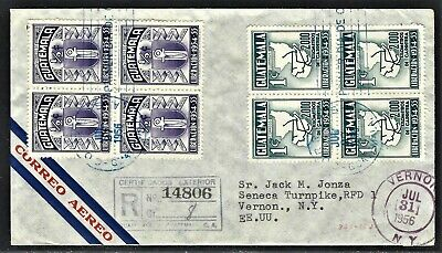 GUATEMALA 1956 SCOTT 363-4 LIBERATION FIRST DAY COVER TO JONZA 2 SCANS