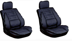 car seat cover cushion back support leather look pair x2 ebay. Black Bedroom Furniture Sets. Home Design Ideas