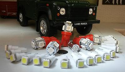 Land Rover Defender 90/110 TDI Instruments Clock & ALL warning lights LED Red