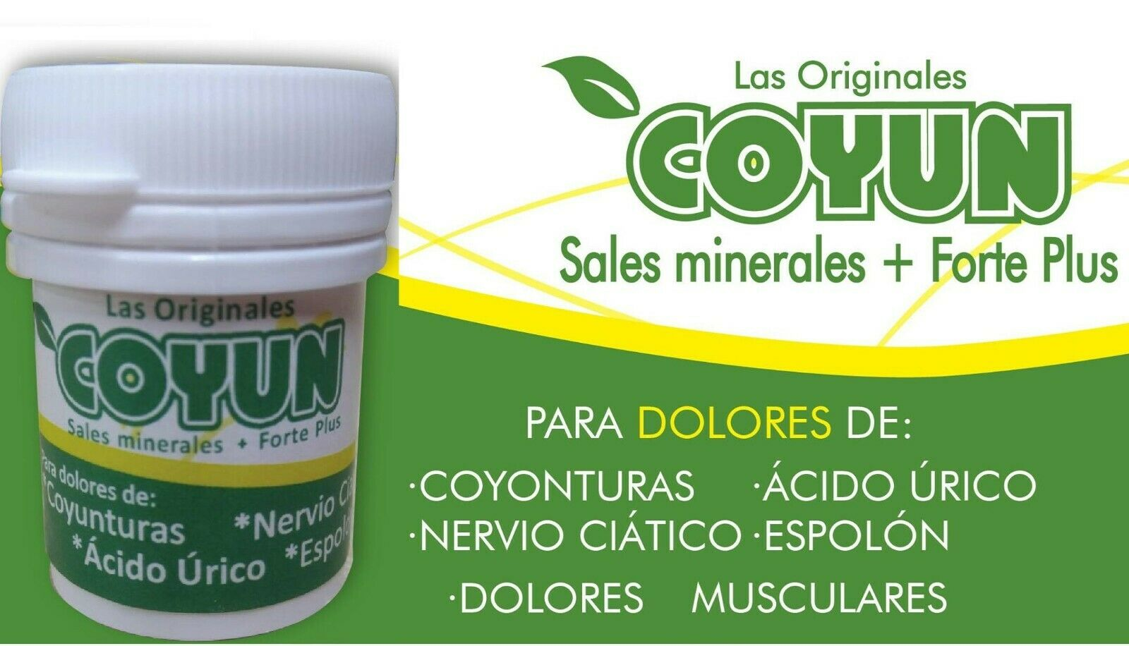 COYUN reforced FORTE PLUS+SALES MINERALES joint pain COYUNTURAS CIATICA AC URICO