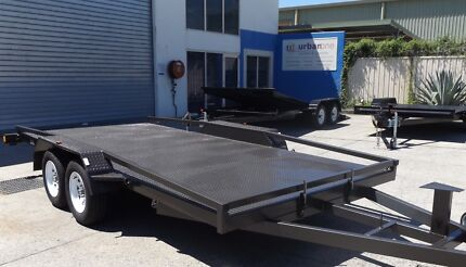 NEW TILTING 15FT 2800KG CAR TRAILER TANDEM WITH RAMPS/RAILINGS Sunshine Coast Region Preview