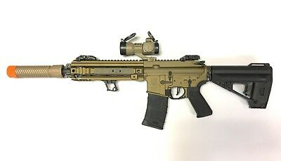 Airsoft VFC M4 Calibur CQC 400-450fps Bronze AEG Custom Package