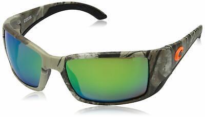 Green Plastic Sunglasses (Costa Del Mar Blackfin Sunglasses Realtree Xtra Camo Green 580 Plastic)