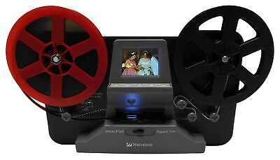 "Wolverine 8mm and Super8 Reels Movie Digitizer with 2.4"" LCD Screen"
