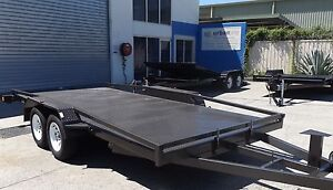 NEW TILTING 15FT 2.9TON HEAVY DUTY CAR TRAILER WITH RAILINGS Toowoomba Region Preview
