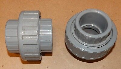 Pvc Gray Union Slip Glue Fittings 1 14 Gsa 2ea Usa Nsf-pw Sch 80 135u