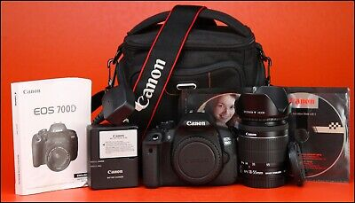 Canon EOS 700D DSLR Camera + Canon EF-S 18-55mm Zoom Lens Kit +1080p HD Video