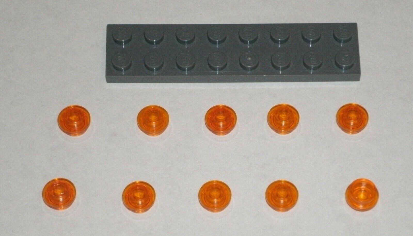 20 Transparent Red 1x1 Round Plates ** NEW ** LDraw part 4073 Bulk Lego Pieces