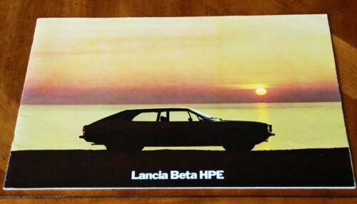 Lancia Beta HPE sales brochure Prospekt, 1977 (multilingual)