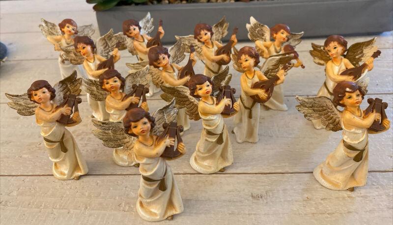 VTG Angel Choir Christmas Ornaments Hong Kong  1950s/60s  Cute X 14