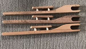 Wooden ice fishing rods set of 3