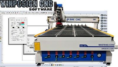 Winpcsign Cnc Router Mill 2019 Software Designs G-code Support