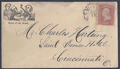 US Post Bürgerkrieg 1867 Lampooning The South Cover New York To Ohio Cachets