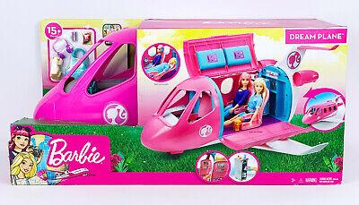 "Barbie Dreamhouse Adventures Dream Plane Pink Jet 12"" Doll Playset Accessories"
