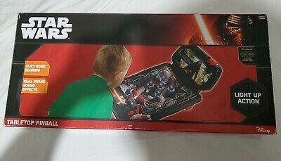 Disney Star Wars Tabletop Pinball Game Light Up Action. The Force Awakens 2015