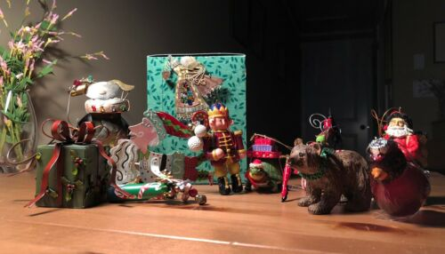 signed+unsigned fanciful whimsical  quirky ornaments christmas holiday
