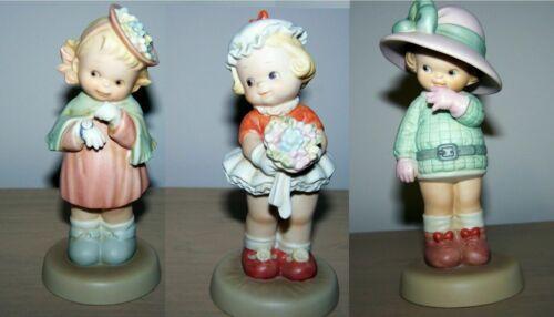 Set of 3 Memories of Yesterday Porcelain Figurine