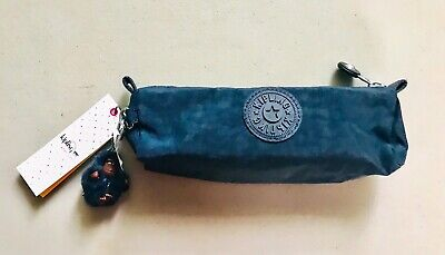 Kipling Freedom True Blue Pencil Case Pouch Bag 8.75x2.5x2.5 NWT