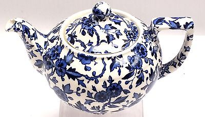 Vintage BURLEIGH ARDEN Teapot Blue and White Floral Detail  - C51