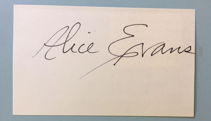 "Alice Evans Signed Index Card 3""X5""  On The Vampire Diaries  Film 102 Dalmatians"