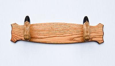Taxidermy Deer Hoof Foot Feet Gun Rack on Oak Plaque Gunrack (Deer Gun Rack)