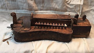 Antique Circa 1850 HURDY-GURDY Primitive String Instrument