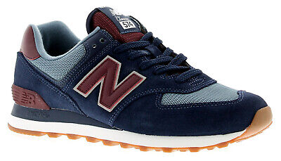 New Balance Nb 574 Mens Trainers Navy/Burgundy UK Size
