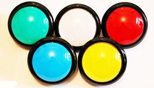 Jumbo Arcade Taster Nr. 5 BELEUCHTET Aktionstaster Push Button 98mm Mame LED
