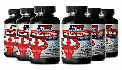 Muscle Maker Power Testosterone Level Muscle Mass Sexual Booster Capsules 6B