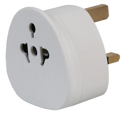 Travel Adapter All Continents USA EU AU AS to UK Mains Plug Fitted 13 amp Fuse