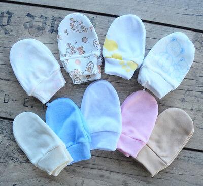 KRATZHANDSCHUHE Fäustlinge Baby Handschuhe Fäustel Babyfäustlige 0-4M SET UNISEX Baby-fäustlinge