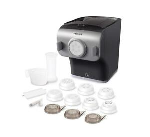 NEW Philips Pasta Maker with Integrated Scale and 8 Shaping Discs, HR2358/05 Condtion: New, small dent, With Integrat...