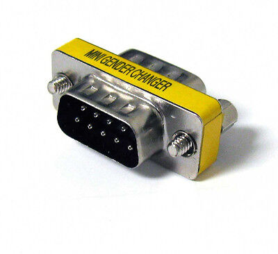 9 Pin RS-232 DB9 Male to Male Serial Cable Gender Changer Coupler (Rs 232 Gender Changer)