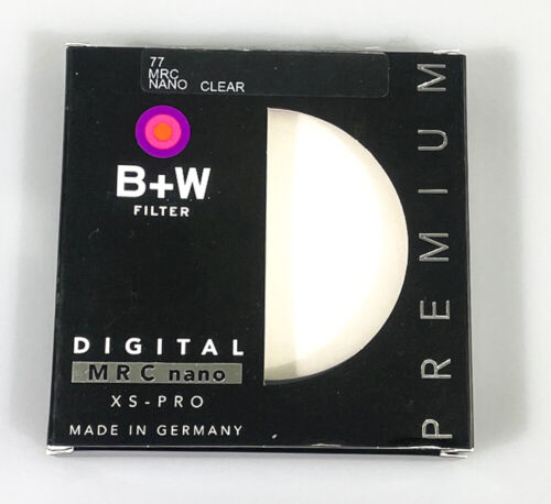 B+W Premium 77mm MRC Clear XS-PRO Filter, new and unopened
