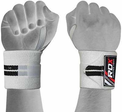 RDX Wrist Weight Lifting Training Gym Straps Support Grip Glove Body Building WB