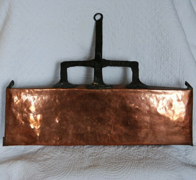 REDUCED! FRENCH ANTIQUE COPPER POTATO PAN c1780 ~ FIREPLACE HEARTH COOKING